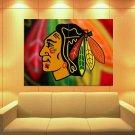 Chicago Blackhawks Logo Ice Hockey Sport 47x35 Print Poster