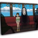 Spirited Away Ogino Chihiro Bou No Face Anime 30x20 Framed Canvas Print