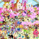 Adventure Time Cartoon All Characters Amazing Art 32x24 Wall Print POSTER