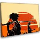 Samurai Champloo Anime TV Series 50x40 Framed Canvas Art Print
