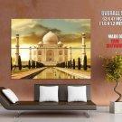 India Taj Mahal White Marble Mausoleum Giant Huge Wall Print Poster