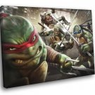 Teenage Mutant Ninja Turtles Angry TMNT Art 40x30 Framed Canvas Print