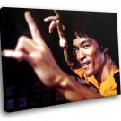 Bruce Lee Actor Chinese Martial Arts 50x40 Framed Canvas Art Print