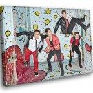 Big Time Rush Pop Band Music 50x40 Framed Canvas Print