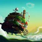 Howl S Moving Castle Anime Manga Art 32x24 Wall Print POSTER