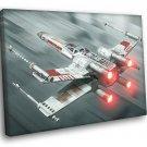 X Wing Starfighter Painting Artwork Star Wars 40x30 Framed Canvas Print