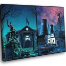 Springfield City The Simpsons Cool Art 30x20 Framed Canvas Print