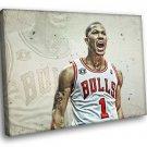 Derrick Rose Basketball Chicago Bulls NBA 50x40 Framed Canvas Art Print
