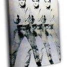 Andy Warhol Triple Elvis 1963 Retro Art 30x20 Framed Canvas Print