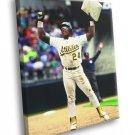 Rickey Henderson Oakland Athletics Baseball Sport 50x40 Framed Canvas Print
