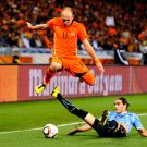 Arjen Robben Sliding Tackle The Netherlands Brazil 32x24 Wall Print POSTER