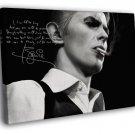 David Bowie Signature Portrait Rock Art BW 30x20 Framed Canvas Print