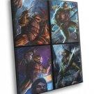 Teenage Mutant Ninja Turtles TMNT Angry Dark Art 40x30 Framed Canvas Print