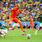 Arjen Robben Jump Goal The Netherlands World Cup Brazil 32x24 Wall Print POSTER