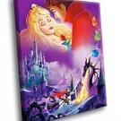 Sleeping Beauty Animated Movie 50x40 Framed Canvas Art Print