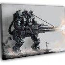Mech Robot Weapon Gun Sci Fi Cyberpunk Art 50x40 Framed Canvas Print