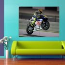 Valentino Rossi Motorcycle Racer Champion 47x35 Print Poster