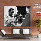 Miles Davis Jazz Musician Composer Trumpet Giant Huge Print Poster