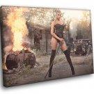 Leonie Hagmeyer Reyinger Fire Hot Rod Babe Car 50x40 Framed Canvas Print