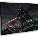 Darth Vader Stormtroopers Star Wars Movie Art 30x20 Framed Canvas Print