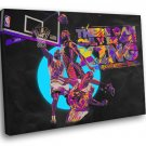 Lebron James King Posterize Dunk Art Basketball 30x20 Framed Canvas Print
