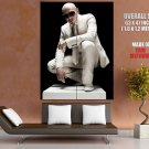 Pitbull White Suit Sunglass Hip Hop Music Rare Giant Huge Print Poster
