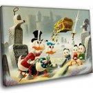 Donald Duck Cartoon Scrooge McDuck 30x20 Framed Canvas Art Print