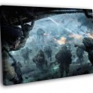Rebel Alliance Troopers Battle AT AT Star Wars 30x20 Framed Canvas Print