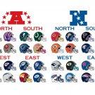 All NFL Teams Helmets Logos Football Sport 16x12 Print Poster
