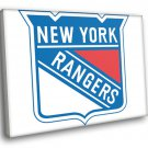 New York Rangers Logo Hockey Sport Art 30x20 Framed Canvas Print