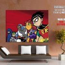 Teen Titans Go Cartoon TV Series Cool Art GIANT Huge Print Poster
