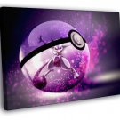 Mewtwo Pokeman Amazing Anime Art Pokeball 40x30 Framed Canvas Print