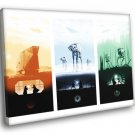 Star Wars Original Trilogy Movie Art AT AT 40x30 Framed Canvas Print