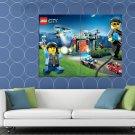 Lego City Police Chase Kids Art Huge 48x36 Print Poster