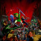 Link Sheik The Legend Of Zelda Amazing Battle Art 16x12 Print Poster