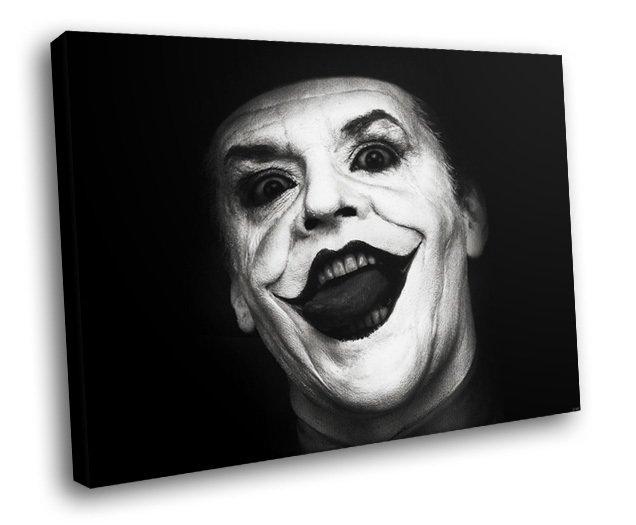Jack Nicholson Legend Actor Batman Joker 50x40 Framed Canvas Art Print
