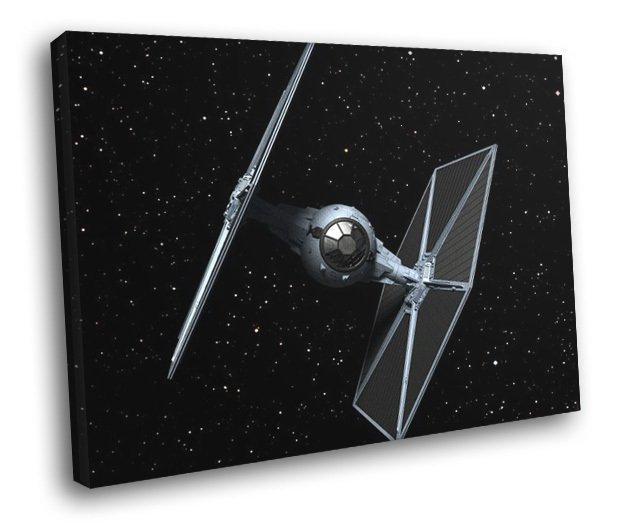 TIE Fighter Starfighter Space Star Wars Art 50x40 Framed Canvas Print