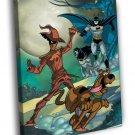 Scooby Doo Team Up Cool Cartoon Art 50x40 Framed Canvas Print