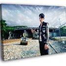 Machine Gun Kelly MGK Rapper Hip Hop Music Rap 50x40 Framed Canvas Print
