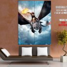 How To Train Your Dragon Animated Film Giant Huge Wall Print Poster
