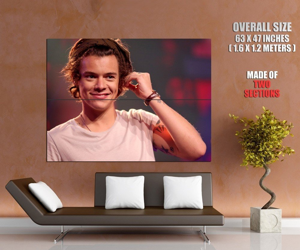 Harry Styles Portrait Tattoo Pop Singer Music Giant Huge Print Poster
