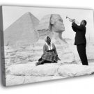 Louis Armstrong Sphinx Pyramids Egypt 1961 50x40 Framed Canvas Print