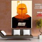 Star Wars Movie Empire Strikes Boba Fett Artwork Giant Huge Print Poster