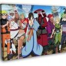 Naruto Characters Anime Manga Art 50x40 Framed Canvas Print