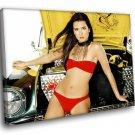 Danica Patrick Auto Racing Driver Sexy Bikini 40x30 Framed Canvas Art Print
