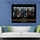 Bounty Hunters Star Wars Movie Awesome Painting Art HUGE 48x36 Print POSTER