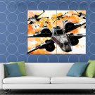 X Wing Starfighters Star Wars Movie Awesome Painting HUGE 48x36 Print POSTER
