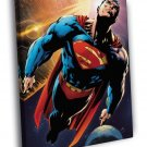 Superman Flight Space Awesome Art 30x20 Framed Canvas Print