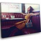 Selena Gomez Style Dress Bag Pop Music Singer 50x40 Framed Canvas Print