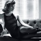 Emma Watson Hot Actress Sexy Dress Legs BW 16x12 Print Poster
